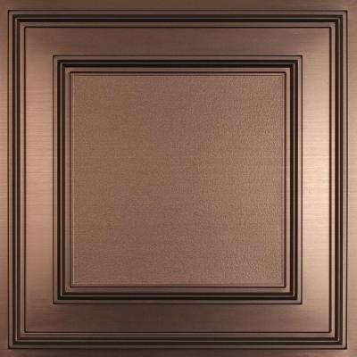 Cambridge Faux Bronze 2 ft. x 2 ft. Lay-in or Glue-up Ceiling Panel (Case of 6)