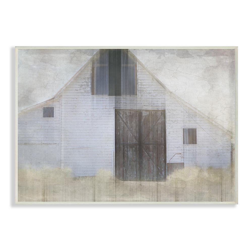 10 in. x 15 in. ''Barn Door Neutral Palette Planked Look Art'' by LightBoxJournal Wood Wall Art