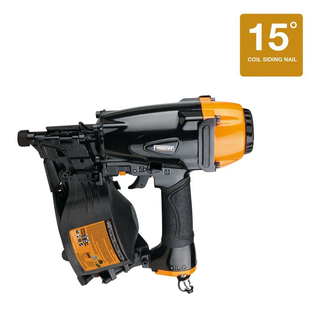 Freeman Reconditioned Pneumatic 1 in.-2.5 in. Coil 15-Degree Siding Nailer Class A-DISCONTINUED