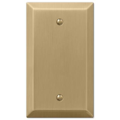 Metallic 1 Gang Blank Steel Wall Plate - Brushed Bronze