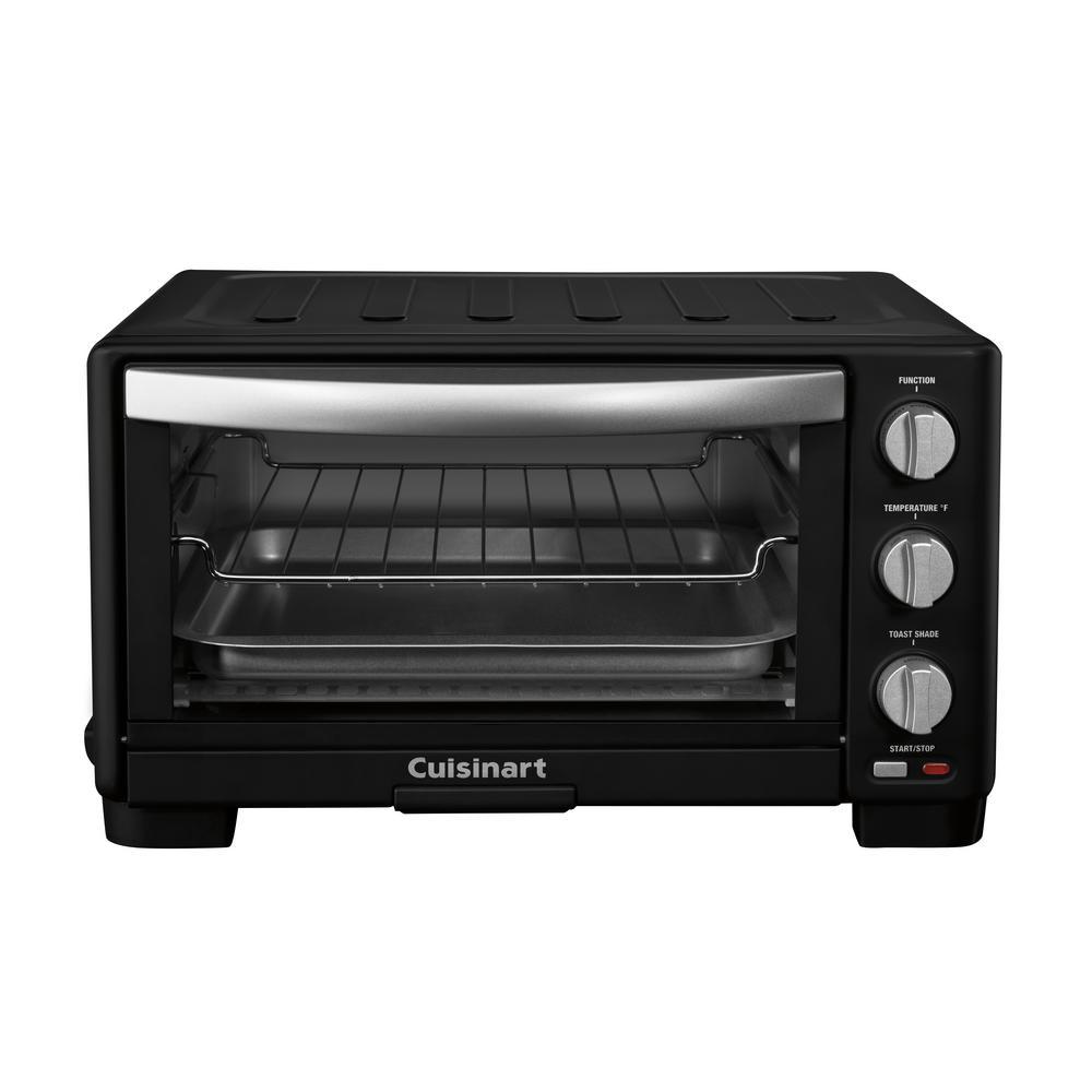 6-Slice Matte Black Toaster Oven Broiler