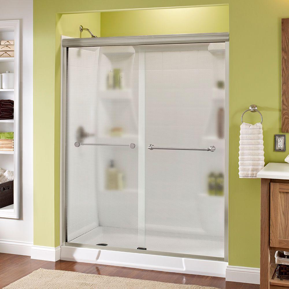 Mandara 60 in. x 70 in. Semi-Frameless Sliding Shower Door in