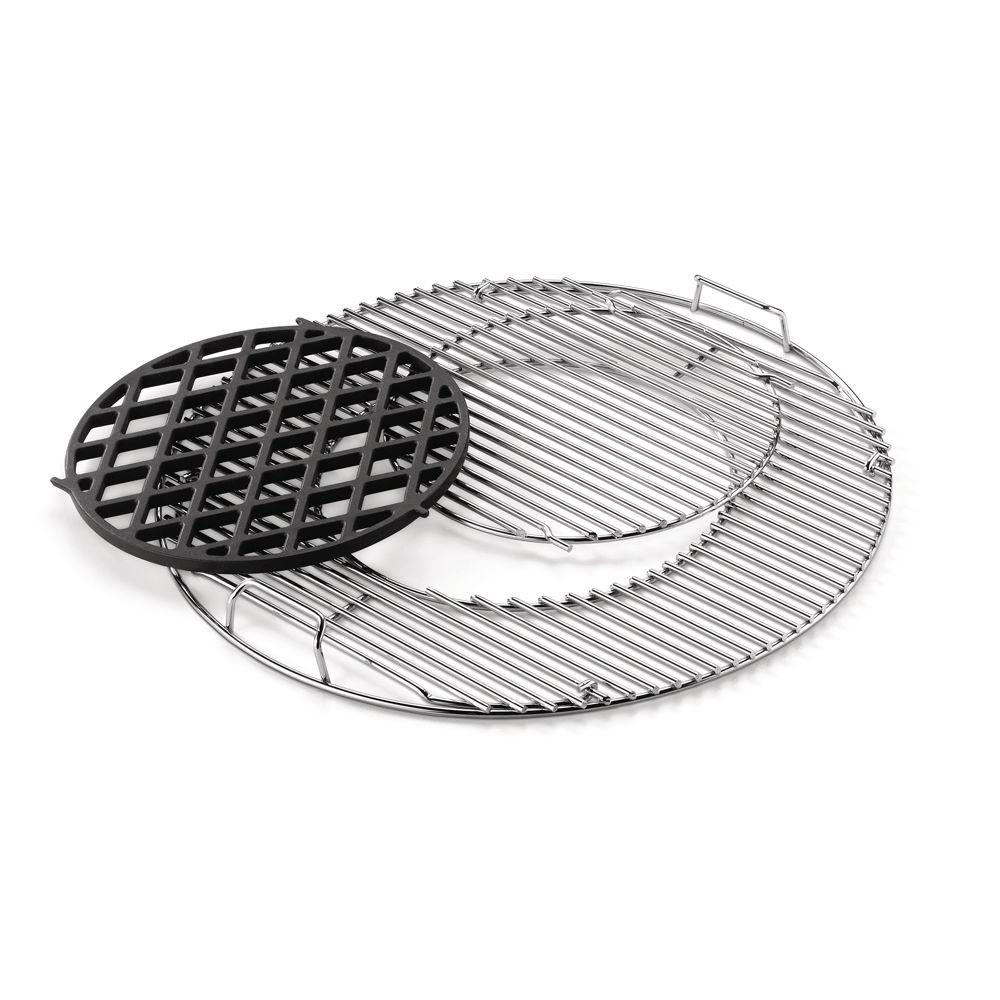 Weber Porcelain-Enameled Cast Iron Sear Grate Set