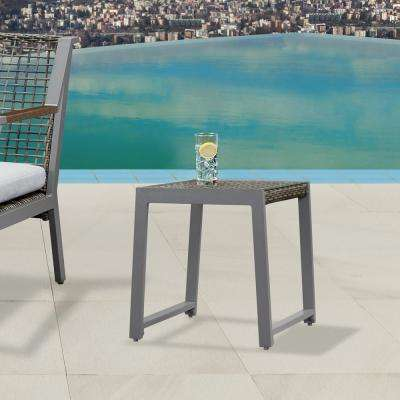 Calvin Gray Powder Coated Aluminum Outdoor Side Table (2-Pack)