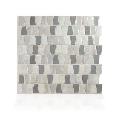 Cavalis Tenero Taupe 10.36 in. W x 9.48 in. H Peel and Stick Self-Adhesive Mosaic Wall Tile Backsplash (12-Pack)