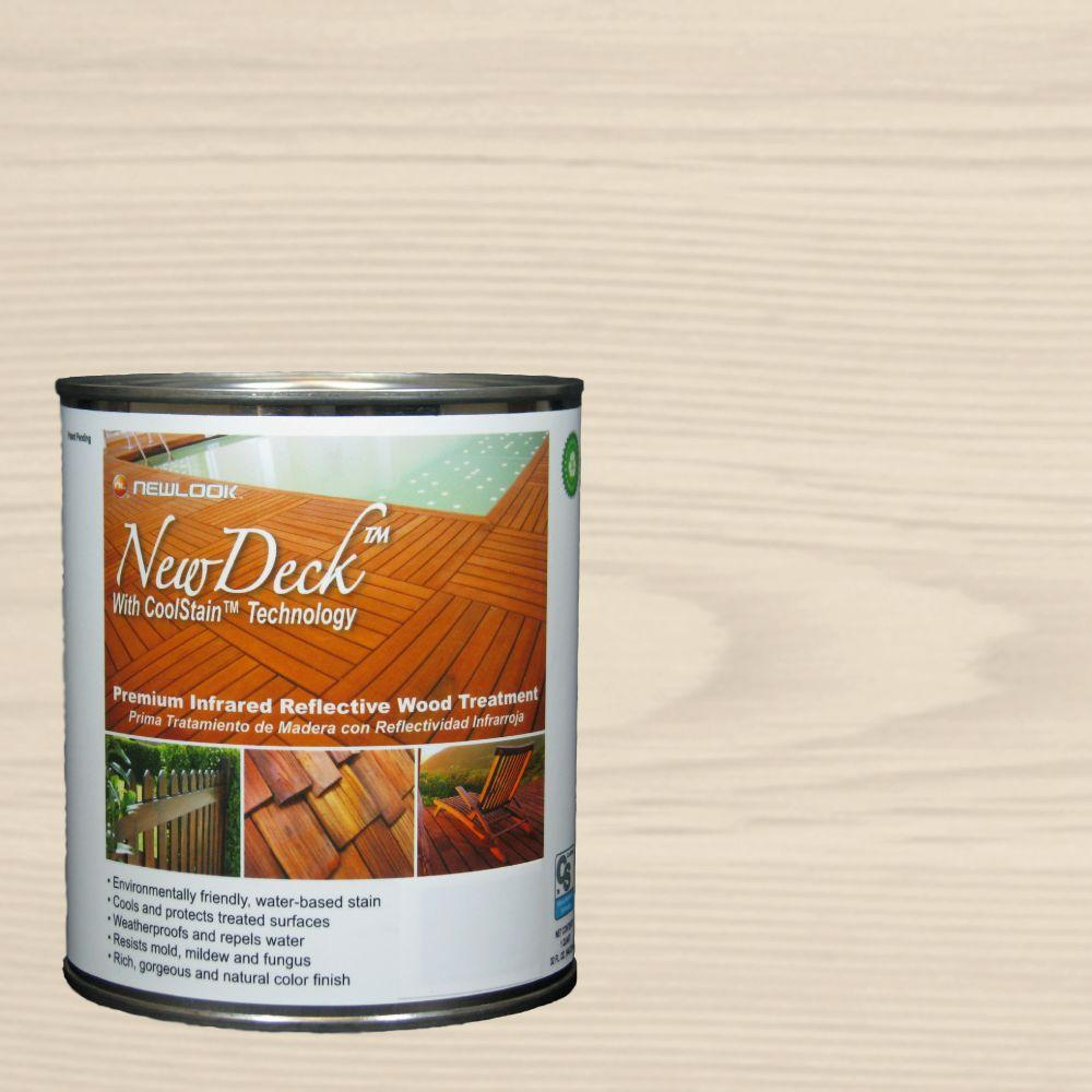 NewDeck 1 qt. Water-Based Birch Infrared Reflective Wood Stain