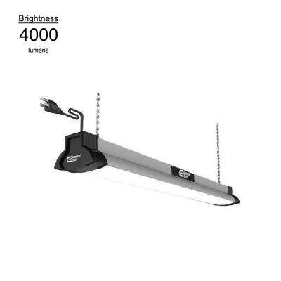 42 in. Brushed Nickel Bright White LED High Output Shop Light