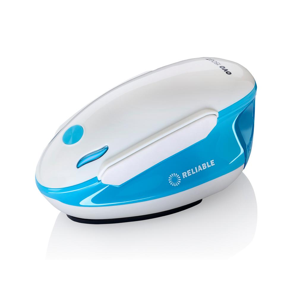 Reliable Reliable Travel Iron and Steamer, White/Blue