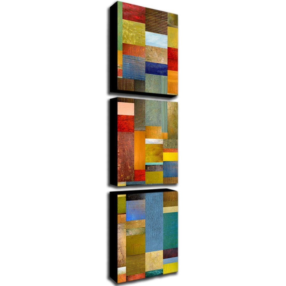 Trademark Fine Art Color Panels with Blue Sky by Michelle Calkins 3-Panel Wall Art Set