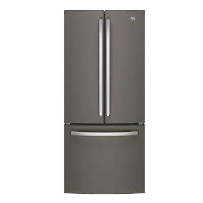 30 in. W 20.8 cu. ft. French Door Refrigerator in Slate