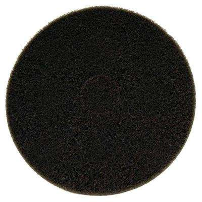 17 in. Non-Woven Black Buffer Pad (5-Pack)