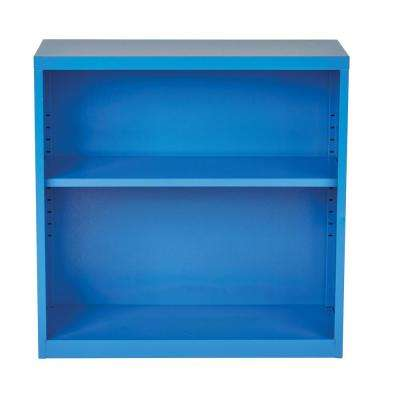 Metal Bookcase in Blue