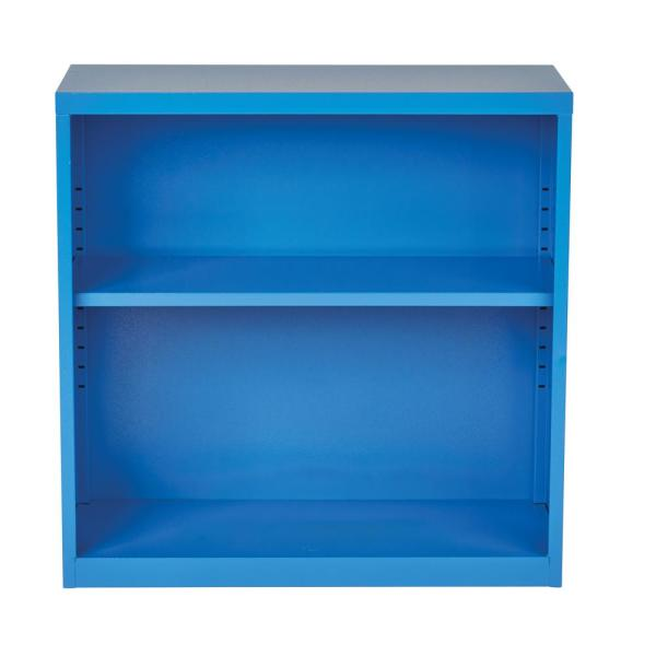 OSP Home Furnishings Metal Bookcase in Blue