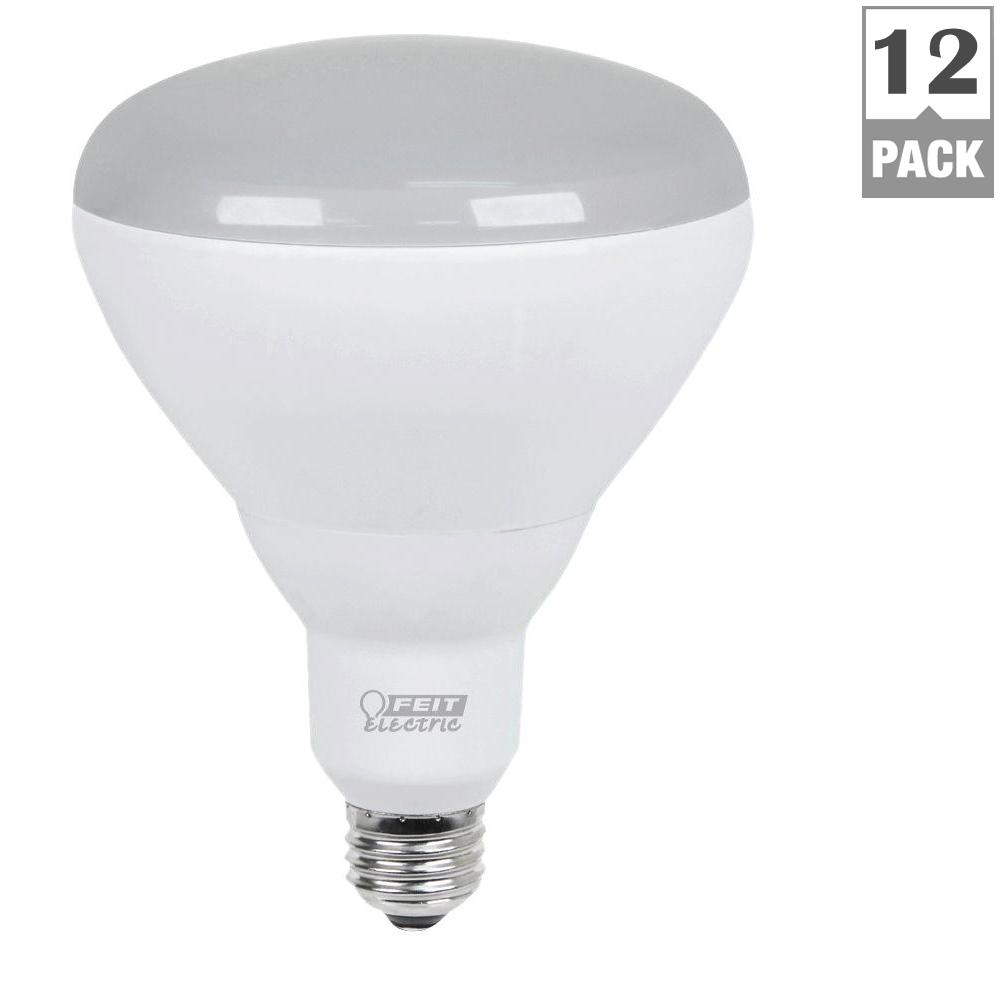 Feit Electric 65W Equivalent Soft White BR40 Dimmable LED Light Bulb Maintenance Pack (12-  sc 1 st  The Home Depot & Feit Electric 65W Equivalent Soft White BR40 Dimmable LED Light ... azcodes.com