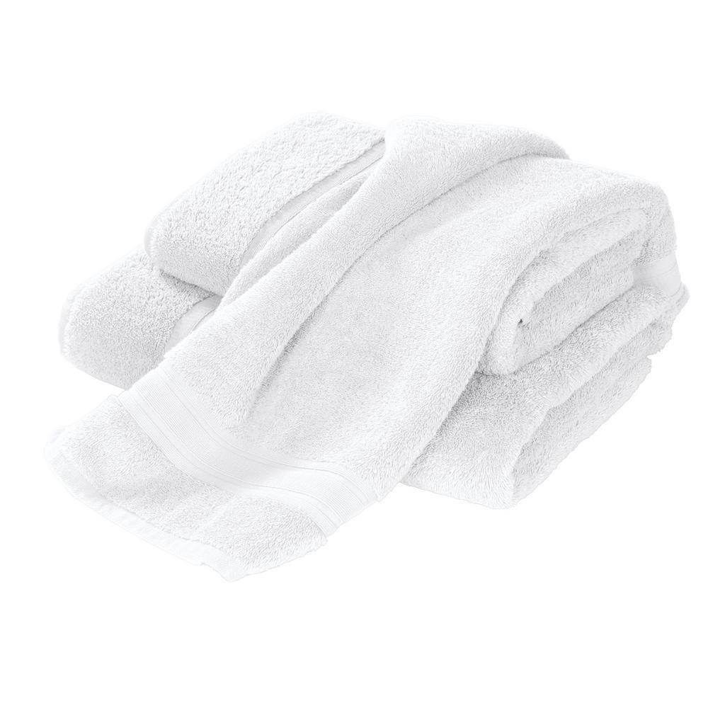 Company Cotton White Solid Turkish Cotton Wash Cloth (Set of 2)