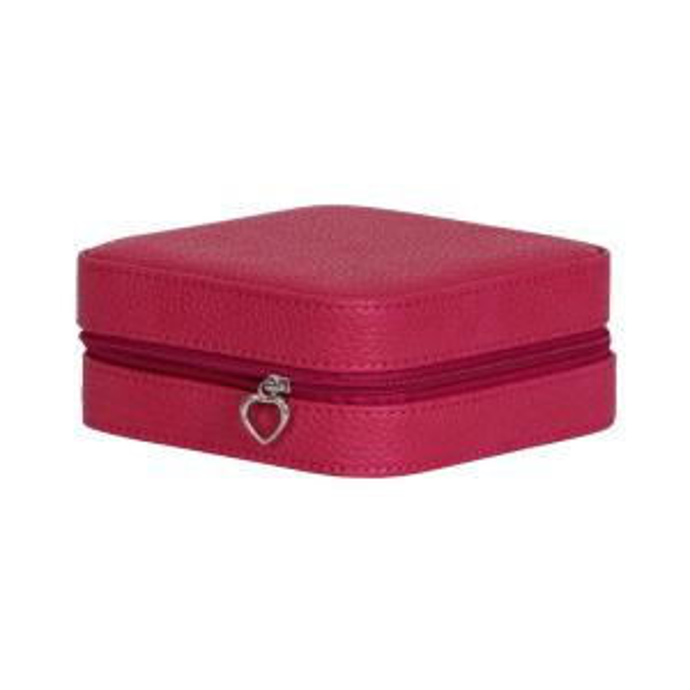 Mele & Co Giana Pink Plush Fabric Jewelry Box 0057323M - The Home Depot