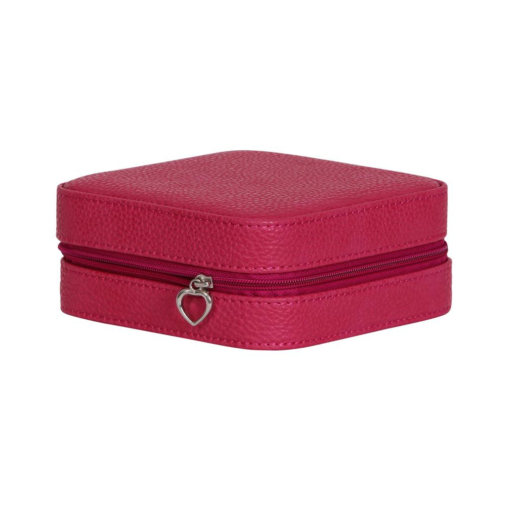 Mele Josette Magenta Faux Leather Jewelry Box  sc 1 st  Home Depot & Mele Josette Magenta Faux Leather Jewelry Box-0062650 - The Home Depot Aboutintivar.Com