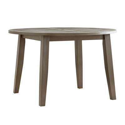 Mission Round Table.Round Mission Patio Dining Tables Patio Tables The Home Depot