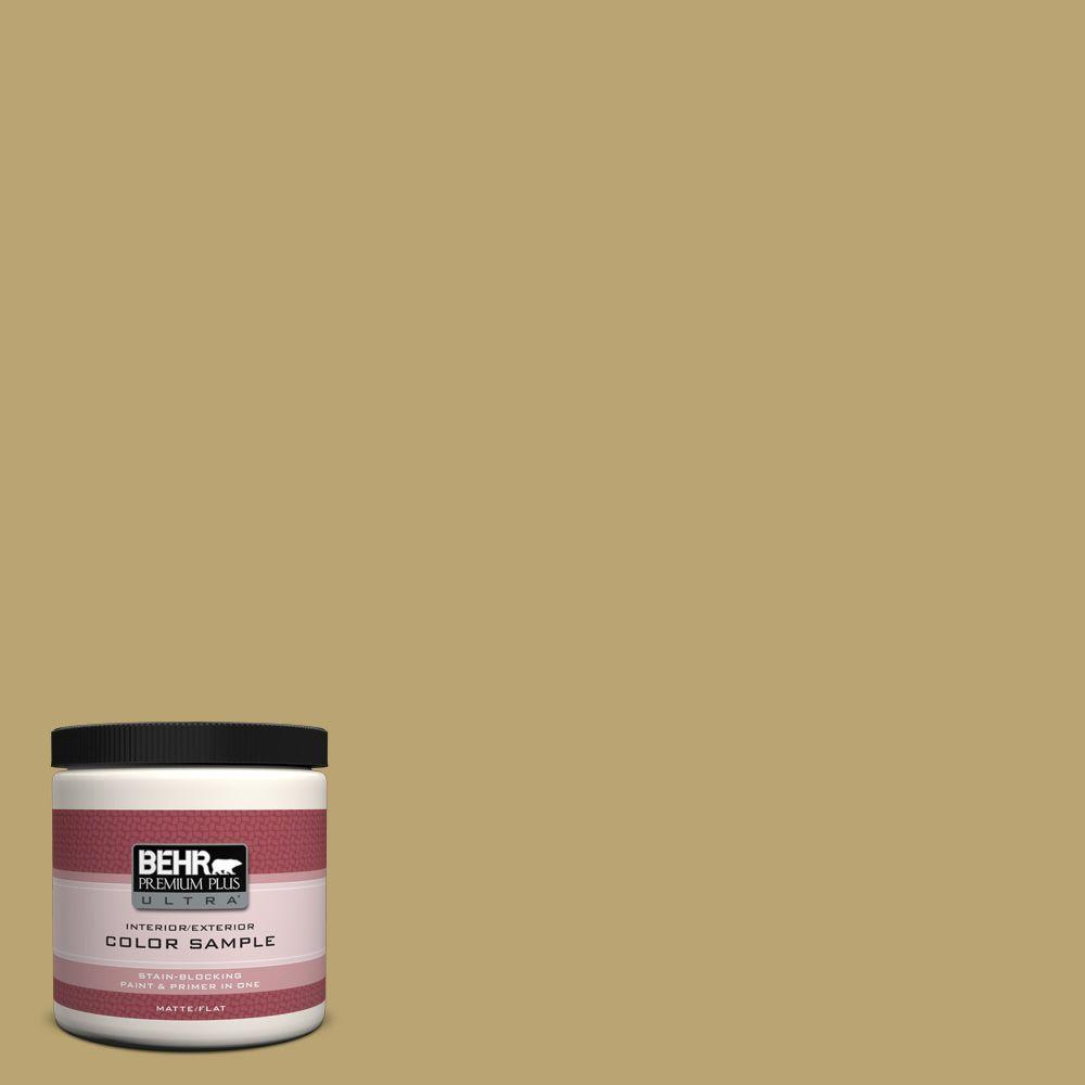 BEHR Premium Plus Ultra 8 oz. Home Decorators Collection Cumin Interior/Exterior Paint Sample