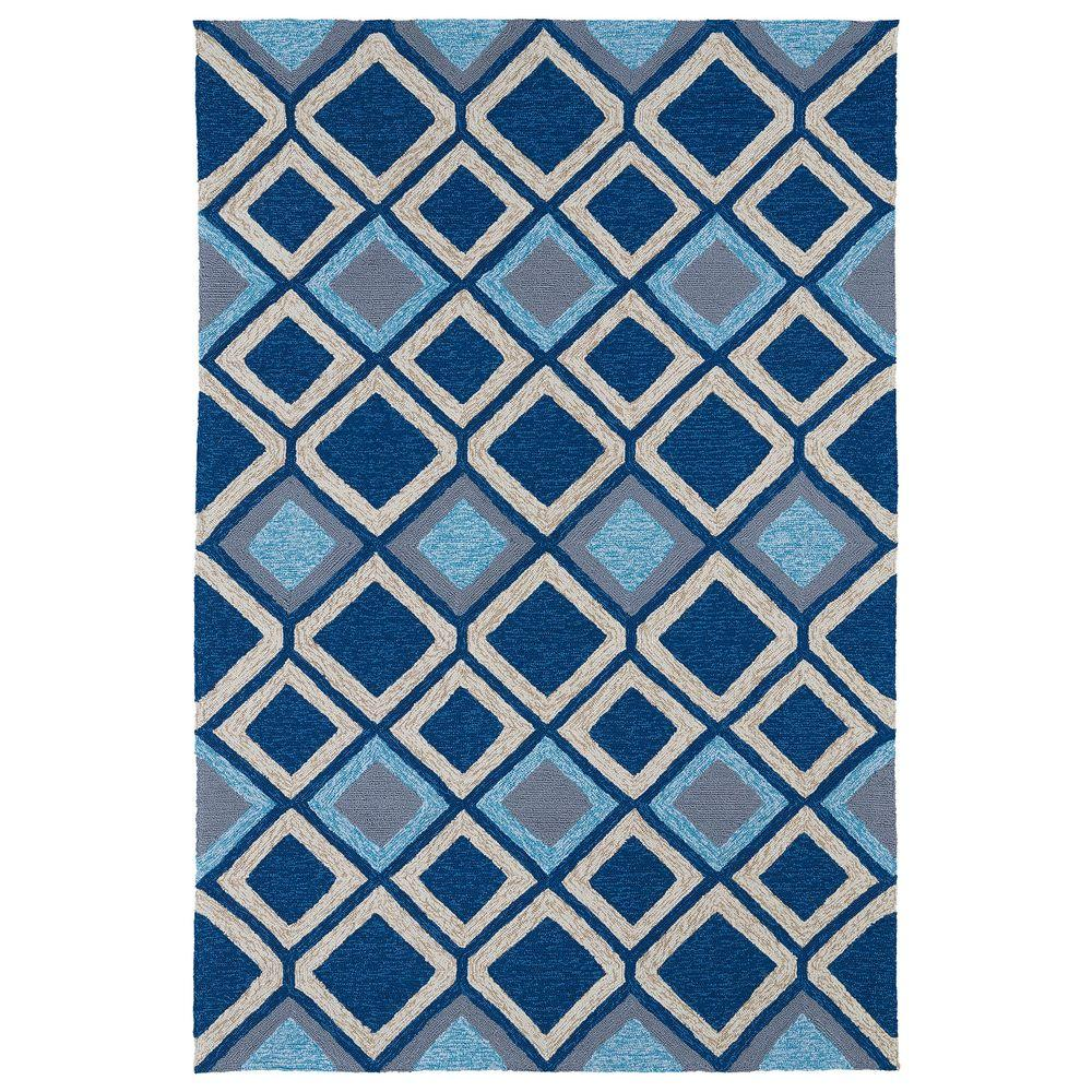 Kaleen Home and Porch Blue 7 ft. 6 in. x 9 ft. Indoor/Outdoor Area Rug