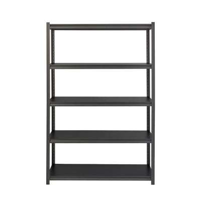 3200 Series 24 in. D x 48 in. W x 72 in. H Black 5-Tier Laminate Adjustable Shelving Unit