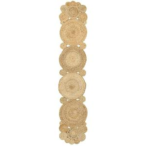 Natural Jute LR32015-NAT1468 Natural Rectangle 1 ft. 4 in. x 6 ft. 8 in. Indoor Table Runner