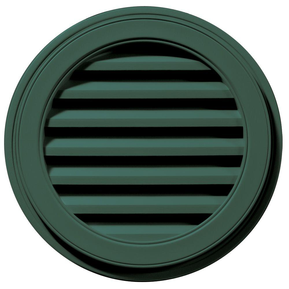22 in. Round Gable Vent in Forest Green