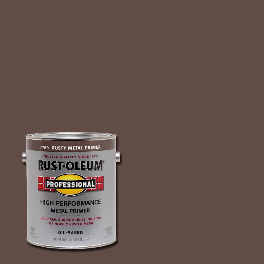 Rust-Oleum Professional 1 gal. High Performance Flat Rusty Metal Oil-Based Rust Preventive Primer