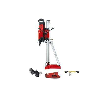 120-Volt DD 250 BL 4-Speed Diamond Coring Rig Kit with Motor, Drilling Stand, Vac Base Plate, Wheels and 15 Amp Adapter