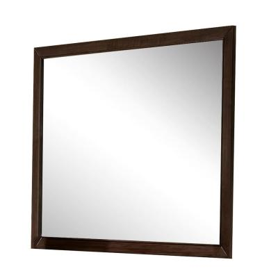 Medium Square Espresso Classic Mirror (35 in. H x 45 in. W)