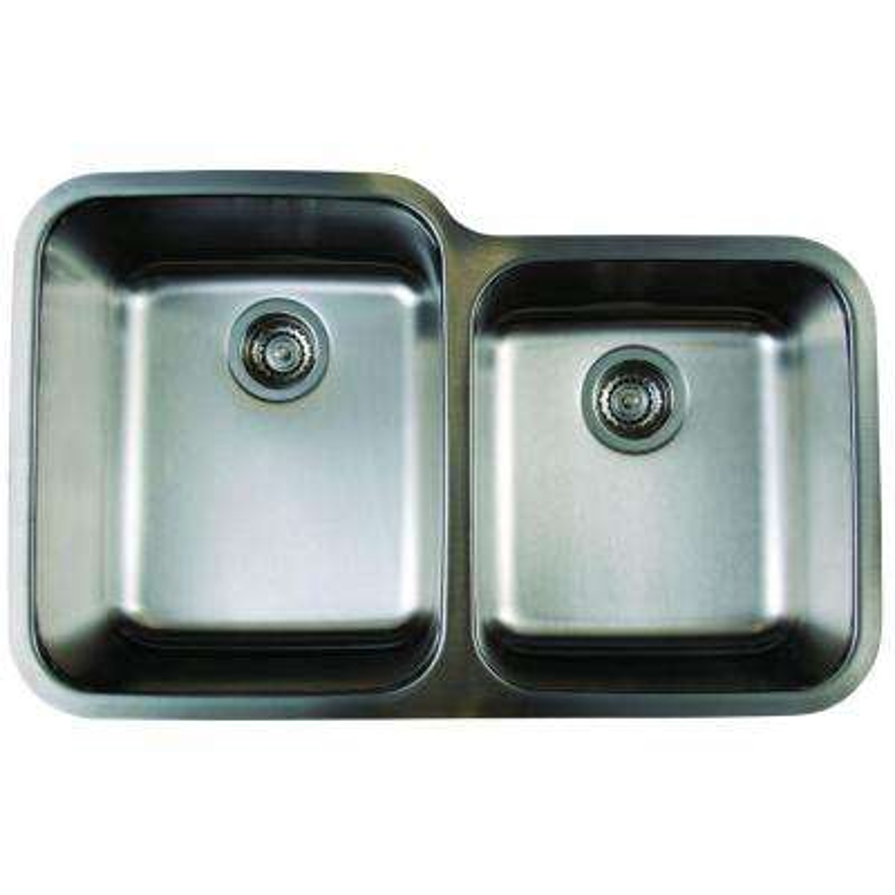 Stellar Undermount Stainless Steel 32 in. 1-3/4 Basin Kitchen Sink