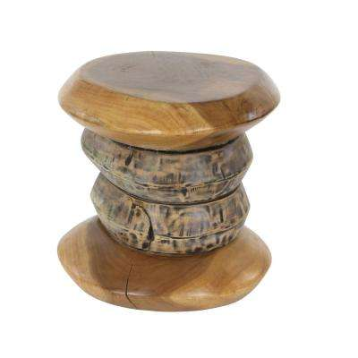 16 in. x 16 in. New Traditional Teak Wood Foot Stool
