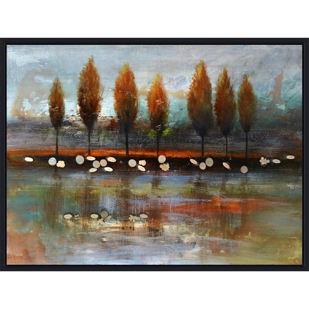 "Yosemite Home Decor 32 in. x 48 in. ""Autumn Reflection"" Hand Painted Contemporary Artwork"