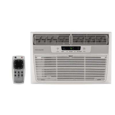 6,000 BTU 115-Volt Window-Mounted Mini-Compact Air Conditioner with Remote Control, White