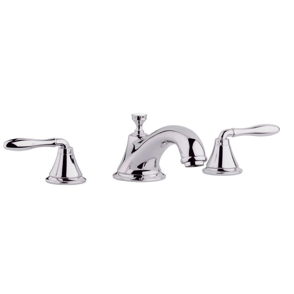 Seabury 2-Handle Deck-Mount Roman Tub Faucet in Polished Nickel