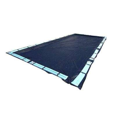Deluxe 20 ft. x 40 ft. Rectangular Dark Blue in Ground Winter Safety Swimming Pool Cover