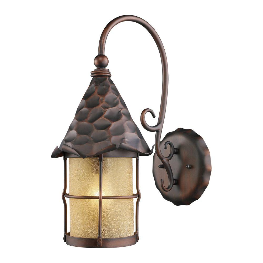 Outdoor Wall Lights Copper: Titan Lighting Rustica 1-Light Wall Mount Outdoor Antique