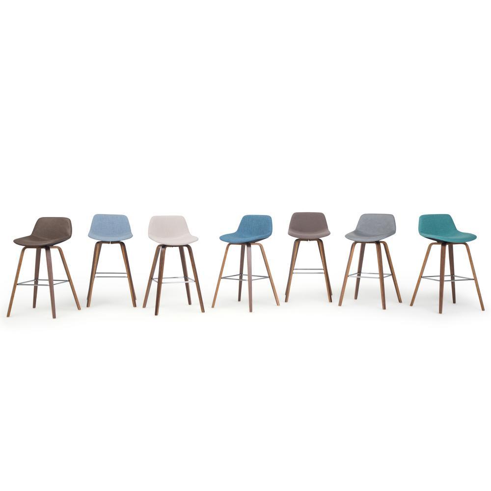 Astounding Simpli Home Randolph 36 6 In Aqua Blue Linen Look Fabric Cjindustries Chair Design For Home Cjindustriesco