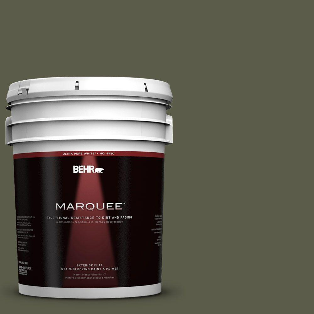 5-gal. #UL200-23 Fig Leaf Flat Exterior Paint