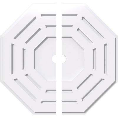26 in. OD x 2 in. ID x 1 in. P Westin Architectural Grade PVC Contemporary Ceiling Medallion (2-Piece)
