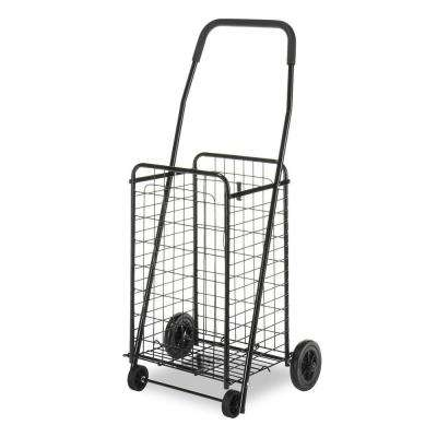 Utility Cart Collection 18.63 in. x 38.78 in. Rolling Utility Cart in Black