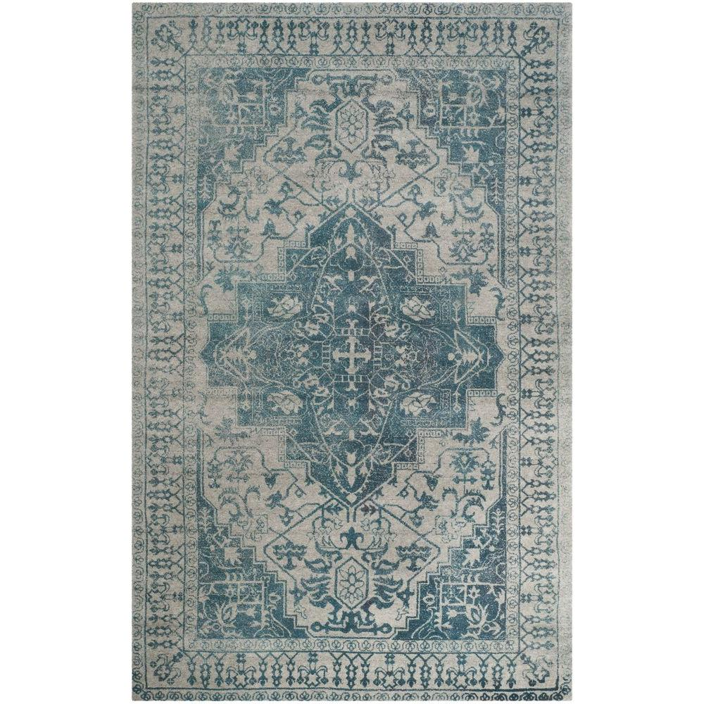 Safavieh restoration vintage blue grey 5 ft x 8 ft area rug