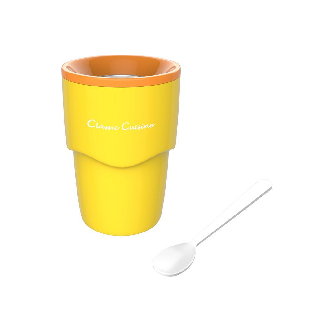 6 oz. Yellow Slushy and Shake Maker Cup