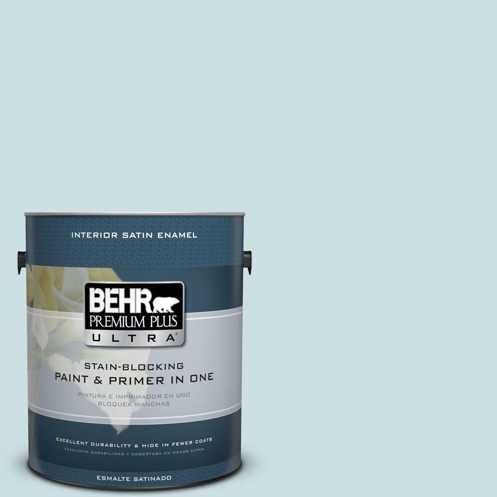 1 gal. #HDC-CT-16B Waterfall Satin Enamel Interior Paint