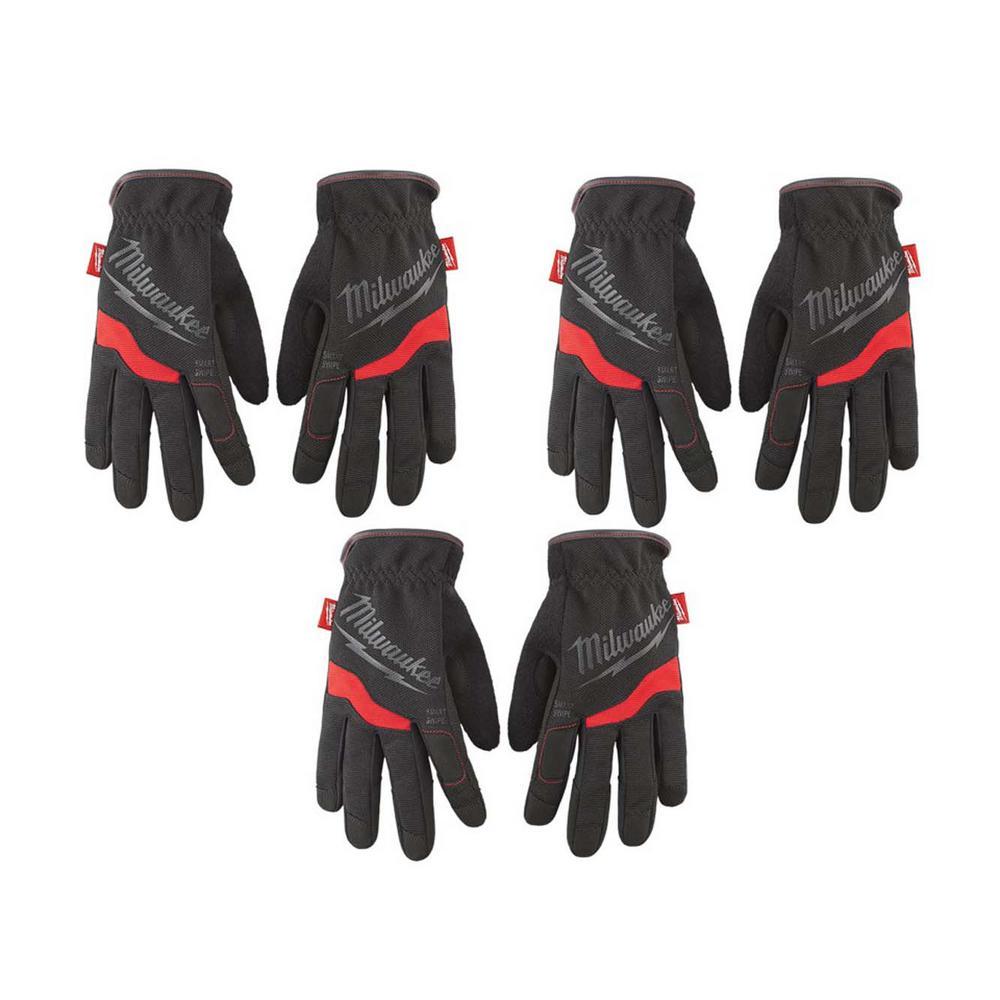 3-Pack Milwaukee FreeFlex Work Gloves (Large)