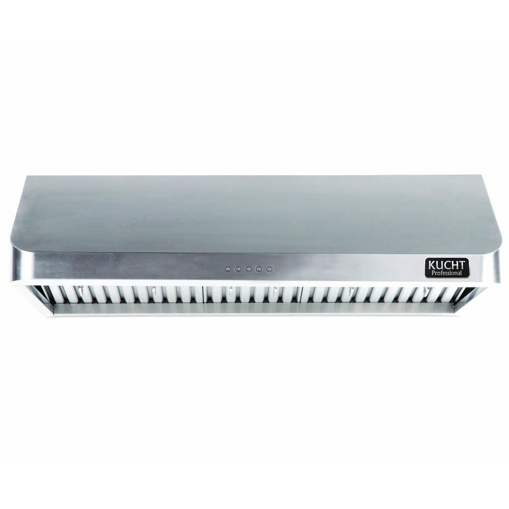 Kucht Pro-Style 48 in. Under Cabinet Range Hood in Stainless Steel ...