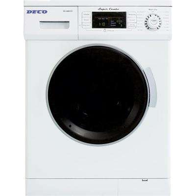 All-in-one 1200 RPM Compact Washer and Electric Ventless/Vented Dryer with Sensor Dry Feature in White