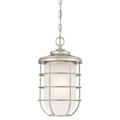 Ferry 1-Light Brushed Nickel Outdoor Hanging Pendant