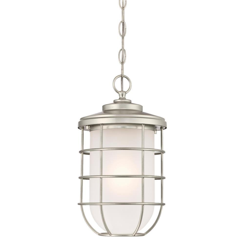 Westinghouse Ferry 1 Light Brushed Nickel Outdoor Hanging Pendant
