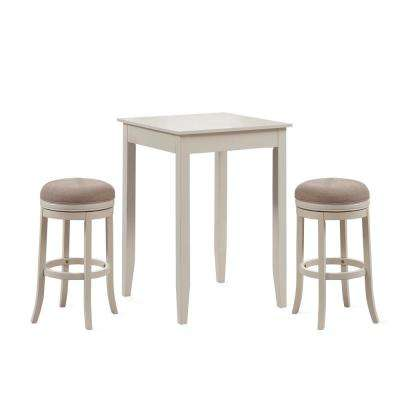 Aversa 3 Piece Distressed Antique White 42 in. H Pub Set